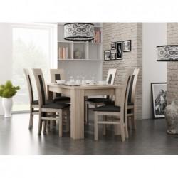 Klasyczny zestaw jadalniany 6 krzeseł + stół 160/90/200 CM