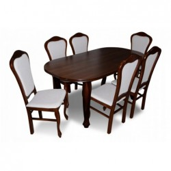 Stół z 6 krzesłami w stylu francuskim 140/90/180CM