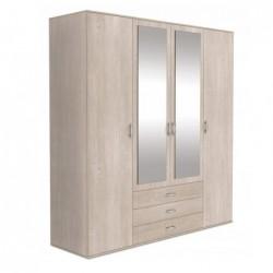 Szafa garderoba z szufladami i lustrem 200 cm