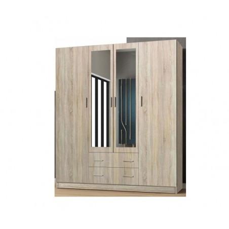Szafa garderoba z lustrem i szufladami 171 cm
