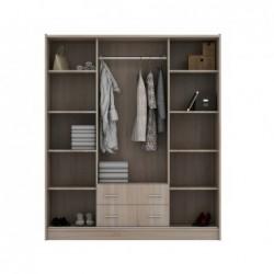 Szafa garderoba z lustrem i szufladami 171 cm Szafa garderoba z lustrem i szufladami 171 cm