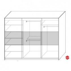 Wnętrze szafy TOPAZ Sypialnia TOPAZ czarno-czerwona