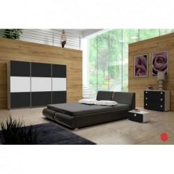 Sypialnia TOPAZ czarno-biała