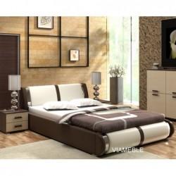 Łóżko tapicerowane AZURYT z ekologicznej skóry