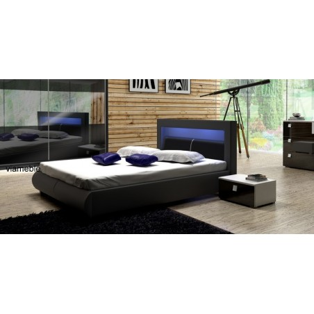 Łóżko tapicerowane MALACHIT z ekologicznej skóry