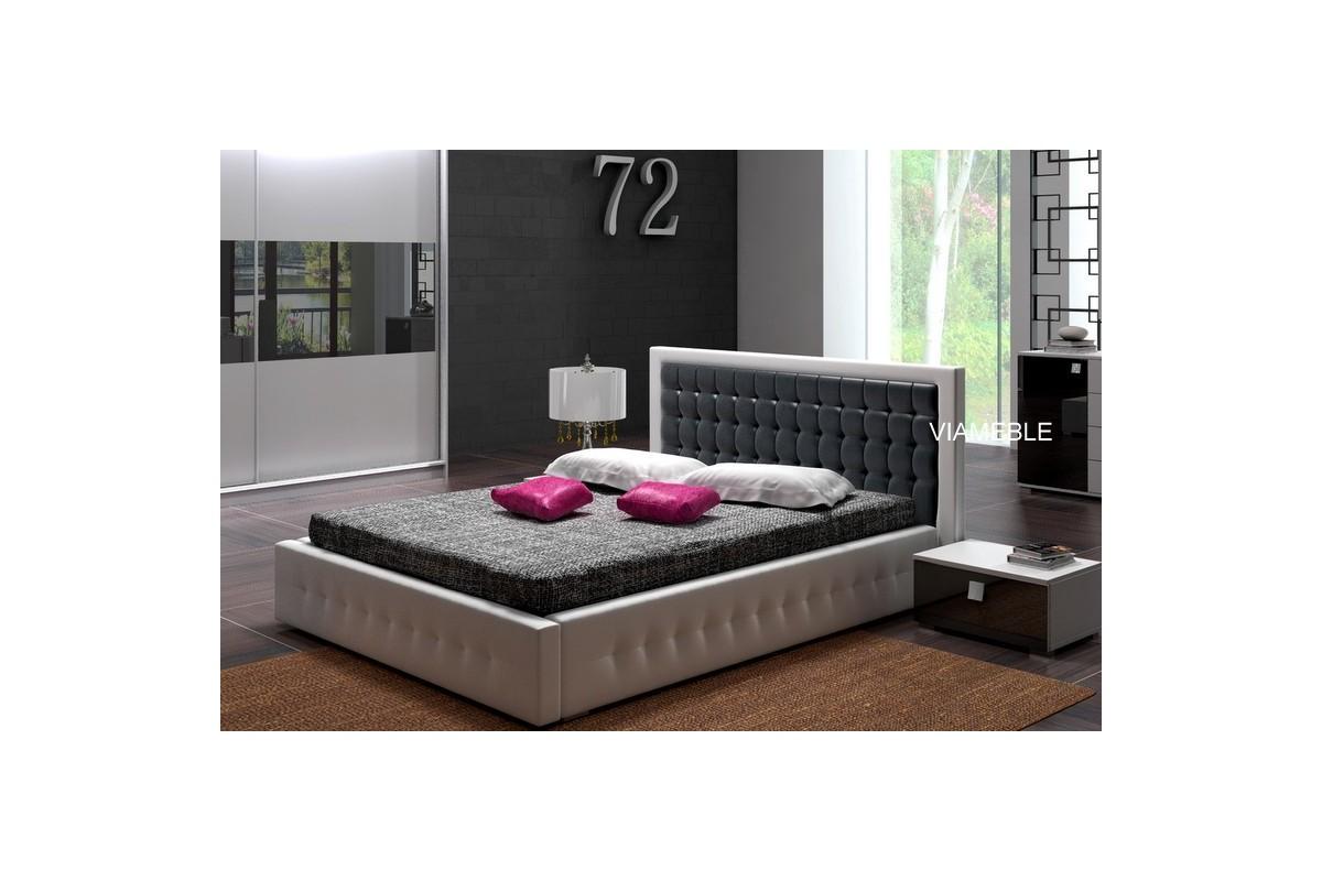 Łóżko LIGHT biało-szare