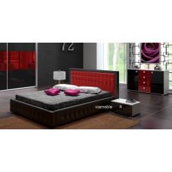 Łóżko LIGHT czarno-czerwone Łóżko LIGHT biało-szare