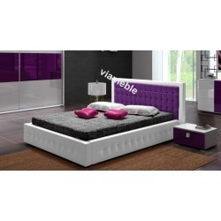 Łóżko LIGHT biało-fioletowe Łóżko LIGHT biało-szare