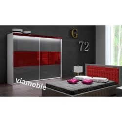 Łóżko LIGHT szaro-czerwone Łóżko LIGHT biało-szare