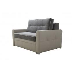 Fotel ART szaro-kremowy