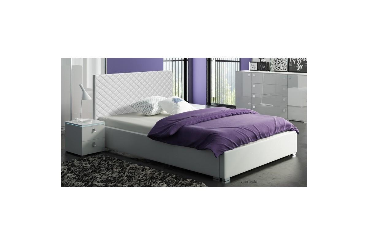 Łóżko tapicerowane TURKUS z ekologicznej skóry