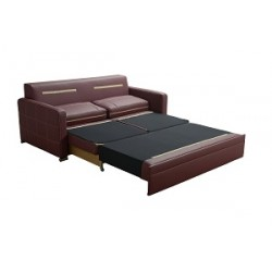 Funkcja spania Sofa turkus eco skóra