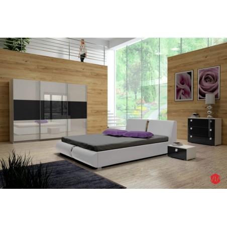 Sypialnia TOPAZ biało-czarna