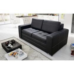 Sofa PIER czarna ecoskóra