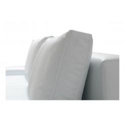 Poduszki oparciowe Sofa LARA DL biała eco skóra