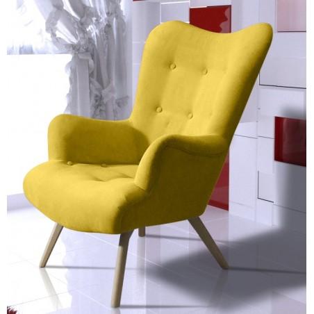 Dekoracyjny fotel LORI żółty