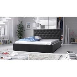 łóżko tapicerowane hera czarne