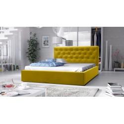 łóżko tapicerowane hera żółte