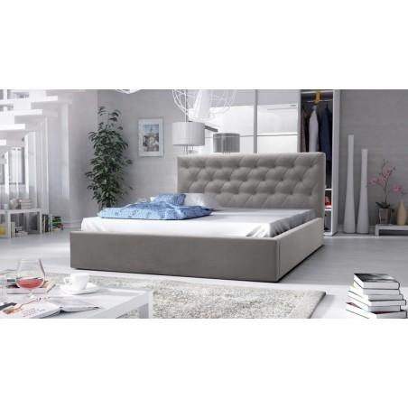 łóżko tapicerowane hera szare