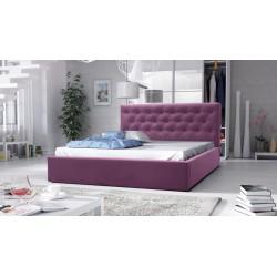 łóżko tapicerowane hera fioletowe łóżko tapicerowane hera szare