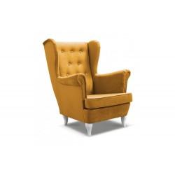 Fotel uszak żółty Fotel uszak szary
