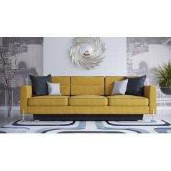 Sofa ART DL 236 cm żółta