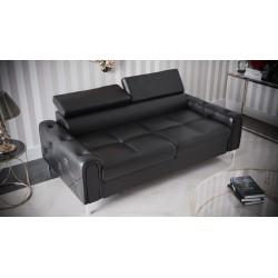 Sofa CARO czarna ekoskóra