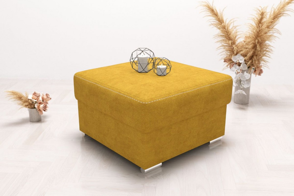 Pufa 55x55 żółta