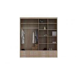 wnętrze szafy w rozmiarze 207 cm