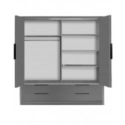 Wnętrze szafy IRINA Szafa IRINA front biały połysk, korpus biały