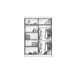 Wnętrze szafy CHICAGO 150-180cm