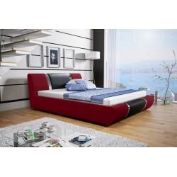 Łóżko tapicerowane MODENA bordowe + czarny pasek Łóżko tapicerowane MODENA białe + biały pasek