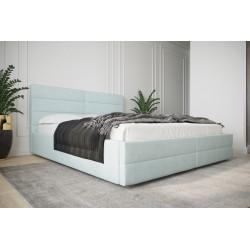 Łóżko tapicerowane  LARUSO z ozdobnym zagłowiem Łóżko tapicerowane LARUSO z ozdobnym zagłowiem