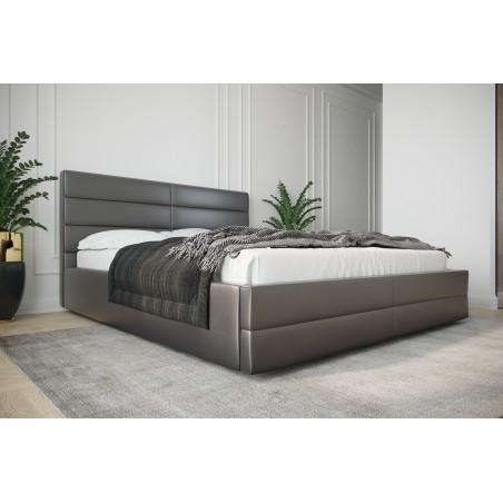 Łóżko tapicerowane LARUSO z ozdobnym zagłowiem