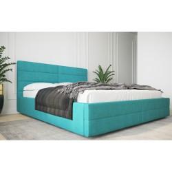 Łóżko tapicerowane  LARUSO z ozdobnym turkus