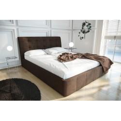 Łóżko tapicerowane LOREN turkus brąz