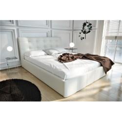 Łóżko tapicerowane LOREN biały
