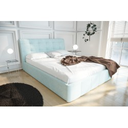 Łóżko tapicerowane LOREN jasno niebieski