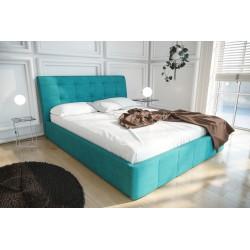 Łóżko tapicerowane LOREN turkus