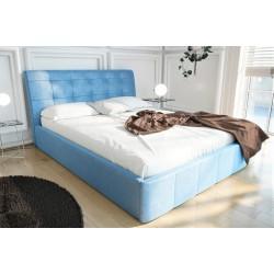 Łóżko tapicerowane LOREN niebieski