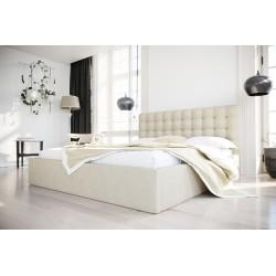 Łóżko tapicerowane SOFT kremowy
