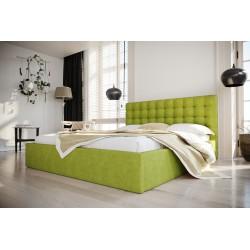 Łóżko tapicerowane SOFT zielony