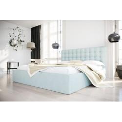 Łóżko tapicerowane SOFT pastelowy niebieski