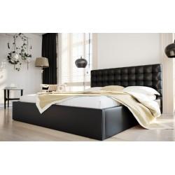 Łóżko tapicerowane SOFT czarny