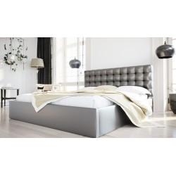 Łóżko tapicerowane SOFT szary