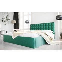 Łóżko tapicerowane SOFT butelkowa zieleń