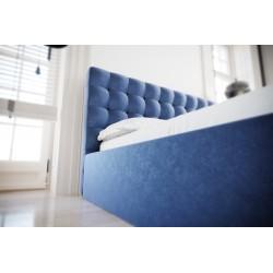 Łóżko tapicerowane SOFT niebieski