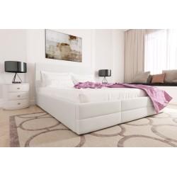 Łóżko tapicerowane LORI biały