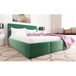 Łóżko tapicerowane LORI zielony