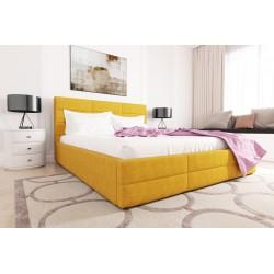 Łóżko tapicerowane LORI żółty